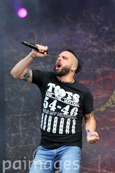 Jesse Leach of Killswitch Engage performs during day two of the 2014 Download Festival at Donington Park.