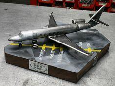 G150 private aircraft built for jimmie Johnson pilot metal art cold hard art sculpture plane rig welding