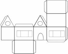1 million+ Stunning Free Images to Use Anywhere Cardboard City, Cardboard Paper, Paper Toys, Free Paper, Diy Paper, Paper Crafts, House Template, Craft Images, Putz Houses