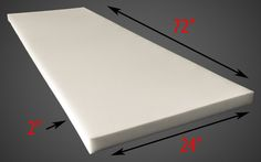 Styrofoam Forms 41200: Foam Dry Fast Reticulated Foam Sheets Upholstery Foam 2 Thick, 24 Wide X 72 -> BUY IT NOW ONLY: $74.1 on eBay!