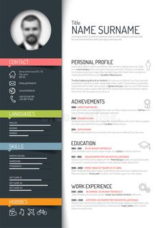 Free Download Resume Templates Professional Cv Template  Resume Templates Download