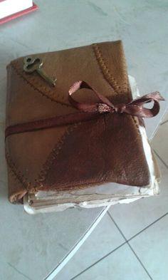 Medieval book hand made * libro agende antichizzato stile medievale fai da te *