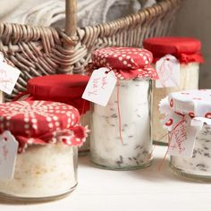 Flavoured Sugars. More gift ideas at goodhousekeeping.co.uk/christmas/gift-ideas