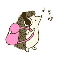 Cute hedgehogs make your messages happy. Hedgehog Art, Cute Hedgehog, Hedgehog Drawing, Hedgehog Tattoo, Cartoon Drawings, Cute Drawings, Hedgehog Accessories, Hedgehog Illustration, Cute Kawaii Animals