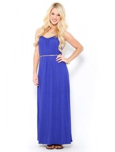 Grecian Braided Maxi Dress