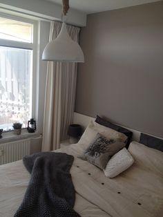 slaapkamer landelijk bruin grijs  Slaapkamer  Pinterest