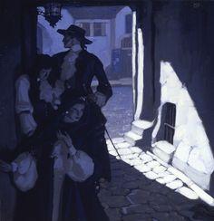 Mead Schaeffer - Captain Blood http://www.americanillustration.org/artists/schaeffer/schaeffer.html
