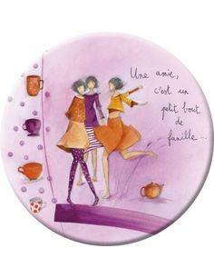 My friend, you are small piece of family ~* une amie - Elettra Birthday Box, Birthday Cards, Happy Birthday, Art Et Illustration, Illustrations, Marie Cardouat, Art Fantaisiste, Anne Sophie, Art Carte
