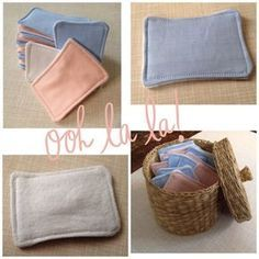 Cotton pads - finally DIY - Less/Zero Waste Elaheh - Minimalismus İdeen Upcycled Crafts, Diy And Crafts, Diy Photo, Diy 2019, Sewing Projects, Diy Projects, Sewing Hacks, Sewing Ideas, Creation Couture