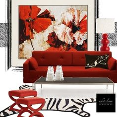 In The Red Zone by White Linen Interiors