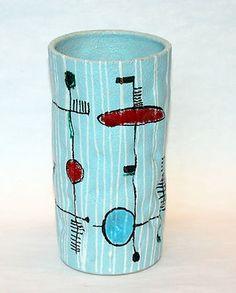 Vintage Italian Art Pottery 1960's Montebello Vase.