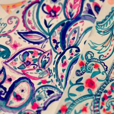 Summer 2015 water-colour paisley