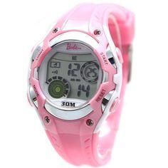 New Best Lovely  Charm DW322J White Watchcase Chronograph Date Alarm Back Light Pink Bezel Digital Watch