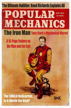 Popular Mechanics 1965: IRON MAN by RobertHack.deviantart.com on @deviantART