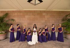 Long, Purple Bridesmaid Dresses // photo: Studio EMP // Feature: TheKnot.com