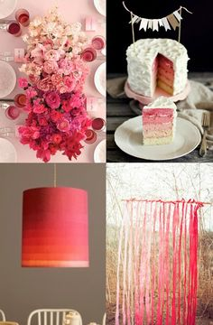 Ombre Pink Party Decorating Ideas