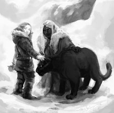 Drizzt meets Catti-brie by Palila Watch Report Fan Art / Digital Art / Painting & Airbrushing / Books & Palila Elfen Fantasy, Fantasy Rpg, Fantasy Books, Dark Fantasy, Fantasy Characters, The Elder Scrolls, Character Concept, Character Art, Drizzt Do Urden