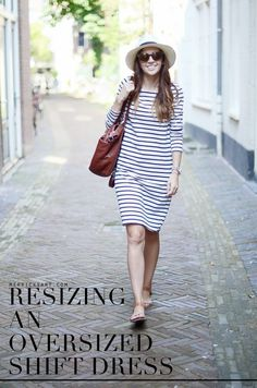 Merrick's Art // Style + Sewing for the Everyday Girl : RESIZING AN OVERSIZED SHIFT DRESS