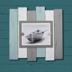 Multi Color Beach Industrial Distressed Frame by ProjectCottage on Etsy