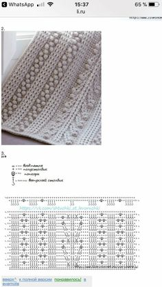 Crochet chart for ribbing, bobbles, and braided bobbles Crochet Diagram, Crochet Motif, Crochet Shawl, Crochet Yarn, Crochet Stitches Patterns, Crochet Designs, Stitch Patterns, Knitting Patterns, Crochet Cable