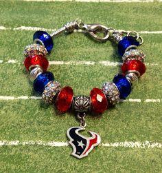 Houston Texans Bracelet on Etsy, $35.00 Nfl Team Team Spirit Nfl jewelry Football Football Jewelry Logo Mascot Texans