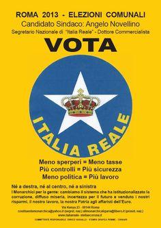 Vota Italia Reale alle elezioni comunali Roma | ITALIA REALE - Stella e Corona Stella, Astros Logo, Team Logo, Logos, Rome Italy, Crown, A Logo