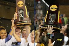 Gators 4th in National All-Sports rankings after raising NCAA Championship trophies for gymnastics (left) and softball in 2015.