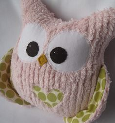 Cute Owl stuffed toy.  I like the chenille fabric!