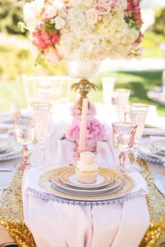 #placesetting Vintage Glam Princess Birthday Party