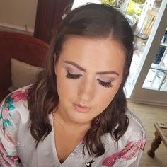 "44 Likes, 3 Comments - Katie May (@katiemay_mua) on Instagram: ""The stunning @hollyrebeccamale #bridesmaid #bridalparty #wedding #weddingday #weddingmakeup #makeup…"""