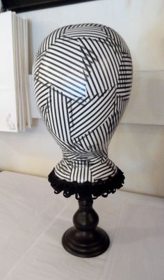 Black and White  Hat or Wig Stand Mannequin Head Display by theWRC, $37.99