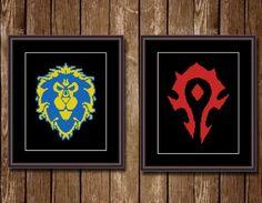 World of Warcraft - Set of 2 Cross Stitch Patterns | Craftsy