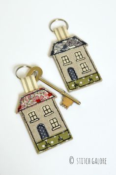 Stitch Galore: House Keyrings