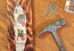 Tendez simplement un fil sur une planche en bois cloutée et réalisez une oeuvre d'art ! - Des idées
