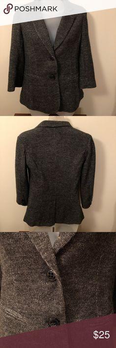 Anthropologie Tweed Blazer Cartonnier from Anthropologie Tweed Blazer, size XS, lined, 3/4 length sleeves, stretch for comfort. cartonnier Jackets & Coats Blazers