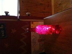 Wine bottle with led lights