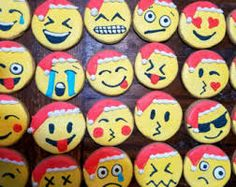 ~Holiday emoji cookies...deck the halls...