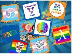 Gay and Transgender Pride Pasties Stickers by geekcraftfactorium