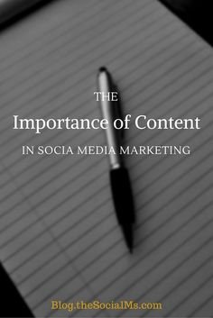 The Importance of Content in Social Media Marketing Read more on http://blog.thesocialms.com/