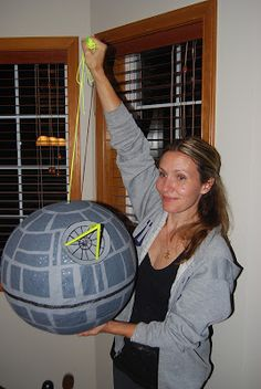 Living with the Voss Family...: How to make a Death Star pinata