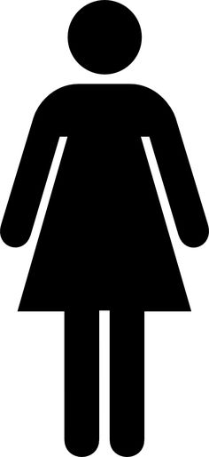 Female Bathroom Sign - Print this free clip art image on a full sheet  adhesive label