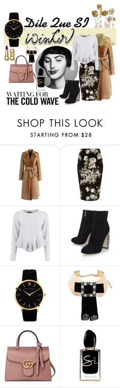 """Dile Que SI Sweater"" by color-dli on Polyvore featuring мода, Chicwish, River Island, Boohoo, Dolce&Gabbana, Gucci и Giorgio Armani"