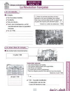 6 documents du fichier élève Doc's en Stock Histoire CM pour étudier l'Époque Contemporaine.