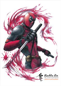 #Deadpool #Fan #Art. (Deadpool) By: Rachta. ÅWESOMENESS!!!™ ÅÅÅ+