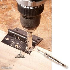 Use a Self-Centering Bit When Mounting Hardware - When you drill pilot holes for…