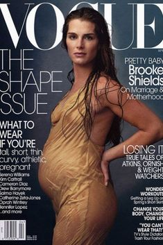 Pregnant women magazine covers
