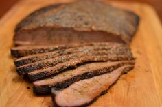 Beautiful Brisket - when you're craving red meat and want to impress some dinner guests, fire up your smoker and do this!