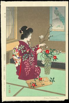 Kasamatsu, Shiro (1898-1991) - Ikebana (Flower Arranging)