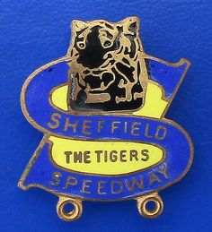 Sheffield Tigers speedway racing - team supporter's badge … Speedway Motorcycles, Speedway Racing, Racing Team, Sheffield, Badges, Tigers, British, History, Historia