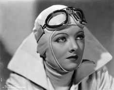 Myrna Loy.  There is something about female aviators.  A masculine role, yet still so chic and feminine.
